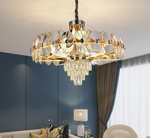 New Acrylic Lamp Arm Glowing Crystal Chandelier Light Luxury Infinite Dimming Living Room chandelier lighting Dining Room pendant lamps