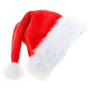 Christmas Hat, Santa Hat for Adults & kids, Classic Unisex Velvet Christmas Hats Comfort Plush for New Year Xmas Party Supplies