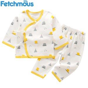 Vêtements nouveau-nés Unisex Ensemble 2pcs Tops + pantalons bébé garçon fille costume coton costume coton vêtements 2021 printemps ropa bebe tenues ensembles Q0104