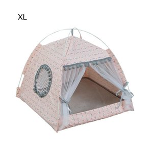 Summer Universal Pet Cat Tent House House Kennel Bed Ractable Lavable Pears Nest