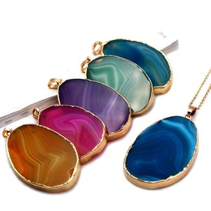 Natural Stone Pendant Necklace for Women Healing Crystal Pendant Jewelry Chakra Stones Necklace 1pcs