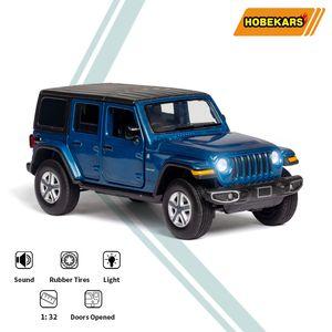 HBEKARS 1:32 Alaşım Model Araba Diecast Oyuncaklar Araç Wrangler Sahara Jeep Simülasyon Araba Oyuncaklar Çocuklar için Cadılar Bayramı Noel Hediyeleri X0102