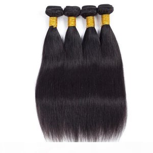 Venta caliente Brasileño Virgin Hair Bundle Ofertas Straight Peruian Human Hair Weave Bundles Barato Remy Pein Free 4pcs Natural Color