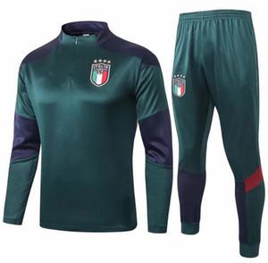 2020 2021 Tracksuit 축구 훈련 정장 2020 2021 이탈리아 Surveetement Maillot 드 발 훈련 슈트 유니폼 키트
