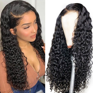 Black water Wave Curly Lace Front Wig And 360 Lace Human Hair Wigs For preplucked baby hair bleached knots