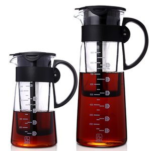 Glass cold extractor with fine filter screen and multifunctional coffee pot with cold water
