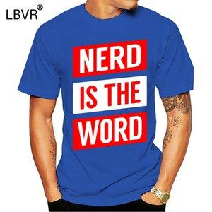 Hombres Tshirt Nerd es la palabra divertida camisa nerd fresco tees impresos top diseñadores camiseta hombres gráficos con capucha