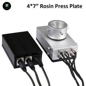 """Authentische ROSIN-Presse-Platten-Kit Dual-beheizte Platten LTQ-Dampf-DIY-Industrie-Hydraulik-Wärmeabzugs-Pressemaschine 4x7 """"Dual Pid"""