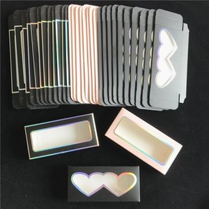 colorful special window Lash Boxes Packaging Wholesale 5D mink lash Paper Box Various Color Empty Eyelashes Boxes Vendor makeup