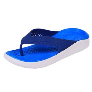 SAGACE Summer comfortable beach shoes men's casual slippers solid color non-slip fashion flip-flops high quality new listing J1209