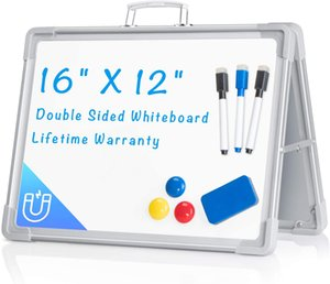 Mini Magnetic Whiteboard With Double Sides Painted Whiteboard For Children 30*40cm Magentic Double-Sided Desktop Foldable whiteboard