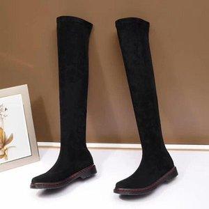 Ladies winter boots fashion classic letters original sexy slim long stretch wool socks ladies warm soft socks boots