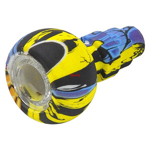 Glass Silicone Bowl Replacement Thick Bowls For Smoking Pipe Silicon Hand Pipe Tobacco Spoon Pipes Glass Water Bong Oil Rig DHL