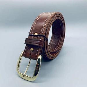 Tactical Sb Brass Buckle Fans Special Soldier Training Fancy Outdoor Men's Leather Belt