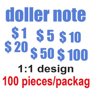 Fake prop money simulation banknotes simulation paper money fake props coins 10 20 50 100 US dollar bills props toy coins 08