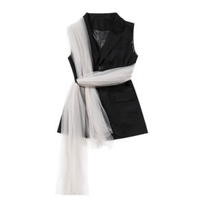 Msxu Donne Moda Moda Chic Maglia Speciale Design Gilet Gilet Vestito