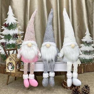 Christmas Swedish Santa Claus Plush Doll Wool Cute Ornaments Handmade Elf Toy Christmas Family Party Decoration Gift