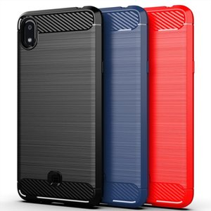 For LG K20 2019 Factory direct supply two in one mobile phone shell+carbon fiber phone case For LG K20 2019 Case Phone