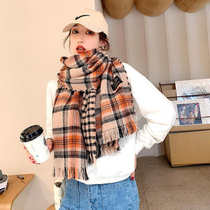 2020 Plaid Winter Cashmere Scarf Women New Thick Warm Shawls And Wraps Brand Hijab Printed Blanket Cape Bandana Hijab