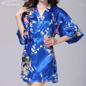 V-Neck Ice Silk Nightdress 2019Ladies 반팔 봄 여름 대형 홈 서비스 느슨한 크기 가운 얇은 섹시한 Nightdressss71