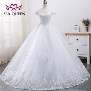Luxury Lace Tulle Princess Wedding Off the Shoulder Wedding Dresses Sweetheart Lace Up Back Applique beading Bridal Gowns 2021