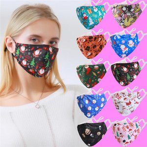 Hot Selling 3D Printed Cloth Cotton Face Masks Fashion Christmas Cartoon Patterns Mouth Muffle Mask Can Put PM2.5 Filter FY0117