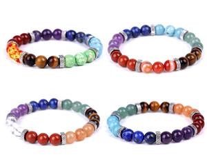 8MM Green Turquoise Stone beads Bracelet chakras Lovers Couple friendship Bracelet Yoga Jewelry For Women Men