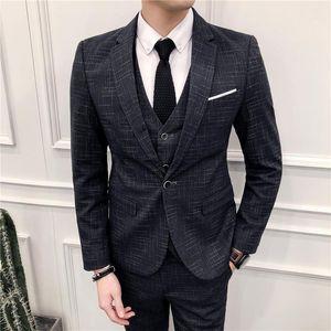 Suit suit men's clothing Korean version slim professional formal dress best man's dress bridegroom wedding