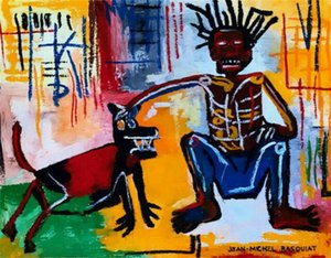 decor Man and Dog Home Decor Handpainted &HD Print Oil Painting On Canvas Wall Art Canvas Pictures , F201213