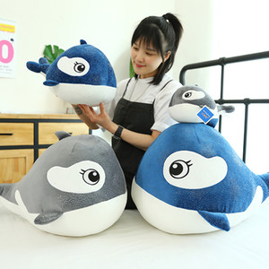 Hot Selling Plush Toys Kawaii Whale Dolls Soft Pillow Stuffed Animal Cushion Kids Boys Girls New Year Birthday Christmas Gifts Home Decor