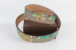 Cinture da uomo moda con stile animale uomo donna cintura lettere stampato moda snakes ago fibbia cintura larghezza 3,8 cm scatola di vacchetta di alta qualità