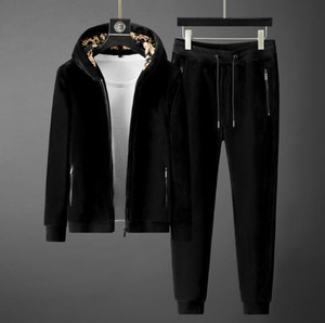 Fashion Tracksuits Two Sides Velour Men Leisure Sport Suit Stylist Men's Sportswear Design Jogger Set Cool Sweatshirt Free Shipping
