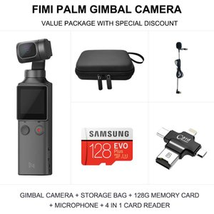 FIMI Palm 3-Axis 4K HD Play Handheld Stabilizador de la cámara de la cabina 128 ° Pista inteligente de gran angular incorporada Control de Wi-Fi incorporado