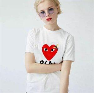 Neue Mode Hip-Hop Stickerei Kurzarm T-Shirt für Paar Studenten Lose Weißer Baumwollstern