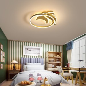 Modern minimalist bedroom light creative personality led ceiling lamp warm and romantic children's room lamp dolphin room lamps RW491