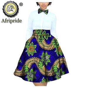 2020 African Femmes Jupes Enfants Vêtements 100% coton Dashiki Bazin Riche Ankara Imprimer Afripride S1827002 T200712