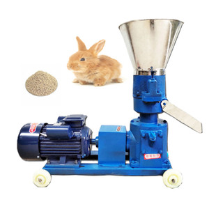 220V / 380V Pellet Pannette Feed Feed Biomass Machine à pellets Biomasse 4KW 150kg / H-200 kg / H granulateur nourri