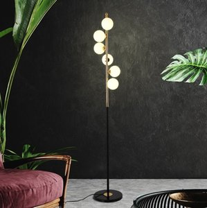 Nordic simple floor lamp living room glass ball bedroom creative art home decoration lamp
