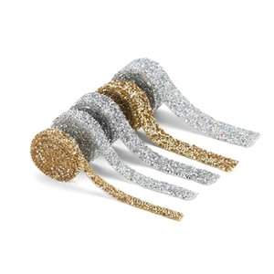 1 야드 1.0-3.0mm 라인 석 테이프 밴딩 핫픽스 스트라스 크리스탈 장식 라인 석 리본 DIY 여자 의류 신발 모자 Q JLLWKA