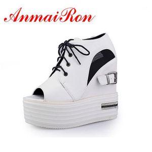 Anmairon Summer Stivale Stivali Stivali Lace-Up Comfort Casual Cunei Cool Scarpe Stivaletti da donna Stivaletti Donna Sandali casuals Casuals1