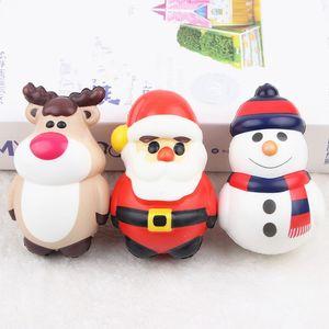 Детские игрушки Santa Claus Doll Squishy PU симуляторы рождественские темы вентиляционные шариковые украшения украшения подарки напряжение мяч медленный отскок 4MC EWA2495