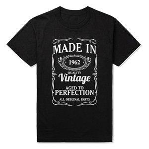Fabriqué en 1962 joyeux anniversaire drôle unisexe graphique mode nouveau coton à manches courtes t-shirt harajuku t-shirt