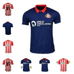 2020 최고 품질 Sunderland 축구 유니폼 홈 Whter Blue Safc 2021 Wembley Maja Gooch 축구 셔츠 Maguire Wyke Kids Kit Maillots 드 발