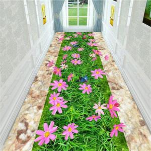 3D Flowers Corridor Rug Bedroom Bedside Carpet Anti Slip Balcony Kitchen Bathroom Mat Indoor Doormat Living Room Area Rug1