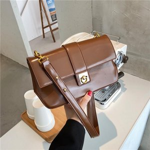 High-quality artificial leather ladies bag 2020 popular new fashion messenger bag luxury designer women's small square
