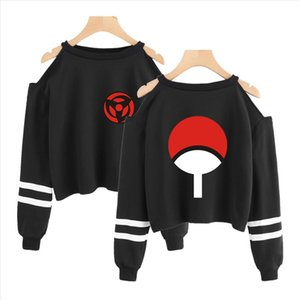 Naruto Sweatshirt short Sweatshirts off shoulder top Fashion short sexy Ninjia Hip Hop Harajuku cropped hoodies for women