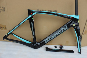 12 color Bianchi XR4 carbon road frame T1000 aero bicycke carbon frame +seat post+clamp+headset+fork with BB386 size 50cm 53cm 55cm 57cm