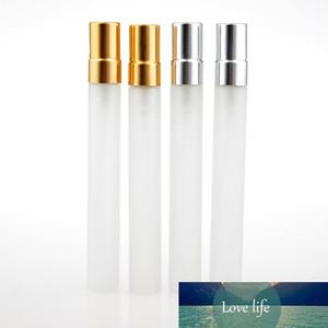 Liplasting 10 ml mini pulverizador vacío botella de cristal escarchado botella de vidrio recargable de aceite esencial contenedor de contenedor de contenedor de contenedor