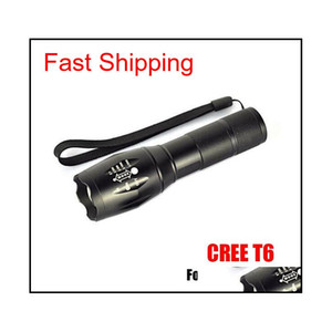 ,G700 E17 Cree Xml T6 2000Lumens High Power Led Torches Zoomable Tactical Led Flashlights Torch Light For 1X18650 Battery Hhfi7