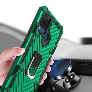 Hybrid Armor Ring Stand Magnetic Car Holder Shockproof Case For OPPO A31 A8 A5 A9 2020 A5S A7 AX5S AX7 A12 A11K Realme 5 6 C11 C15 6 A52